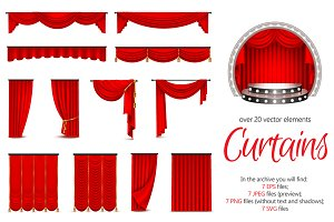 Realistic Curtains Set