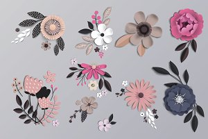 Paper flowers for your design