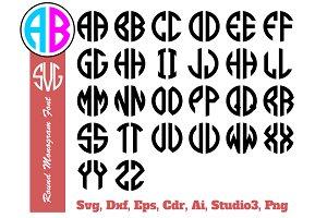 Circle Monogram 2 Letter Alphabet