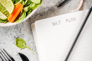 Diet plan weight lose concept