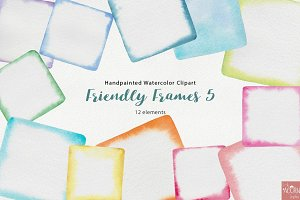 Watercolor Friendly Frames 5
