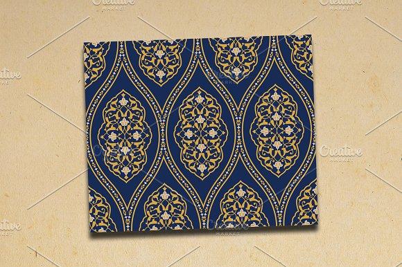 Arabic Floral Seamless Pattern