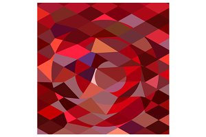 Rising Sun Abstract Low Polygon Back