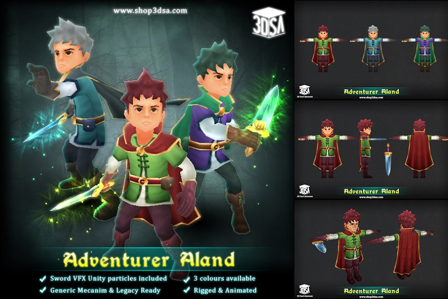 Adventurer Aland ~ Fantasy Characters ~ Creative Market