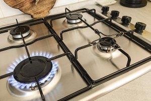 burning kitchen stove