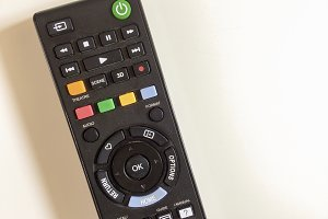 aerial view of a tv remote control
