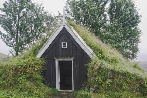 Very small Icelandic church
