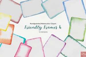 Watercolor Friendly Frames 4