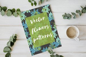 Vector flowers patterns