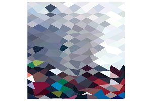 Tidal Wave Abstract Low Polygon Back