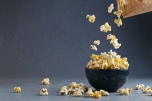 Flying Popcorn Background