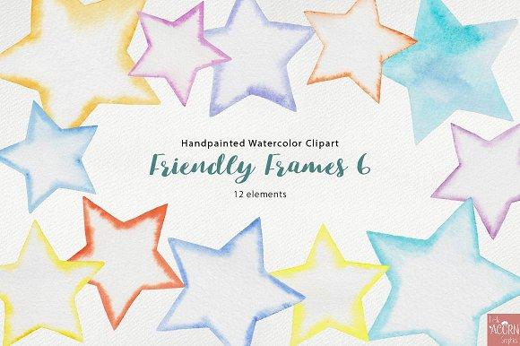 Watercolor Friendly Frames 6 in Objects