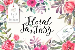 Watercolor Floral Fantasy