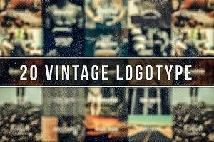 20 Vintage Logotype
