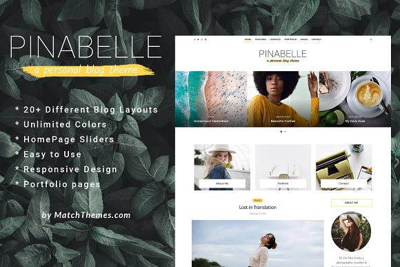 Pinabelle Personal Blog WP Theme
