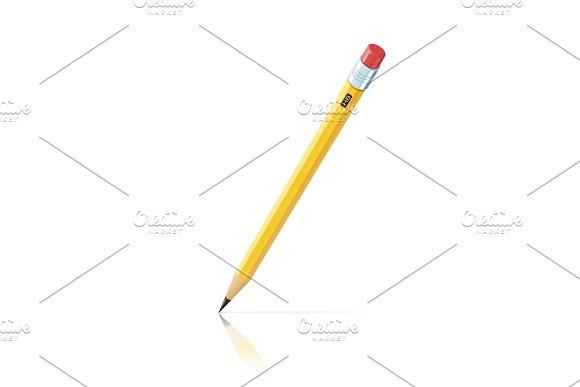 Pencil with eraser.