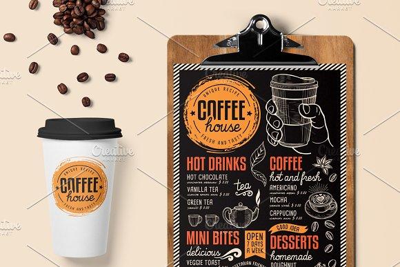 Coffee Menu Template Brochure Templates Creative Market