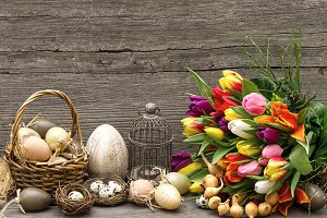 Vintage style easter decoration