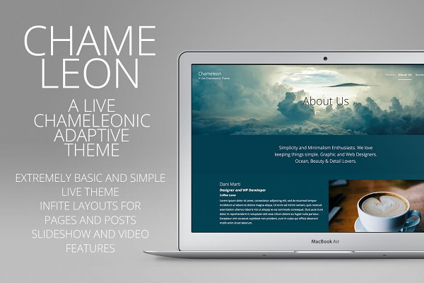 WordPress Minimal Themes: creativebythesea - Chameleon - Adaptive Wordpress Theme
