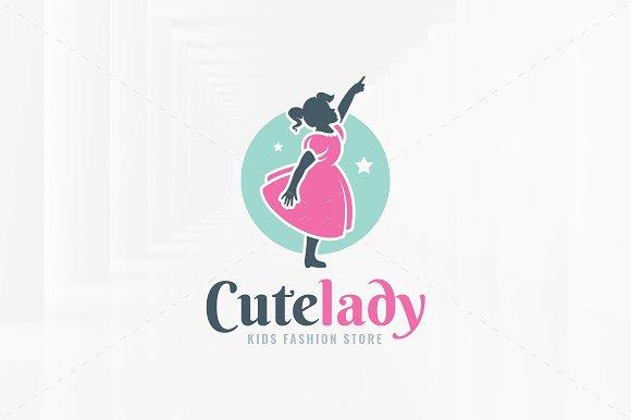 Cute Lady Logo Template