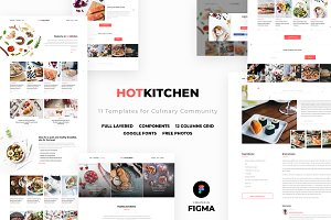 HotKitchen: UI/UX Culinary Templates