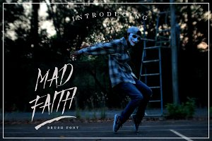Mad Faith ~ Brush Font