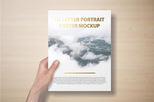 US Letter Flyer / Letterhead Mockup