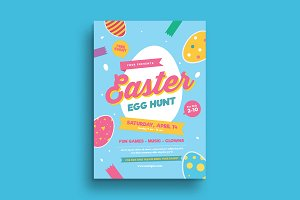 Colorful Easter Egg Hunt Flyer
