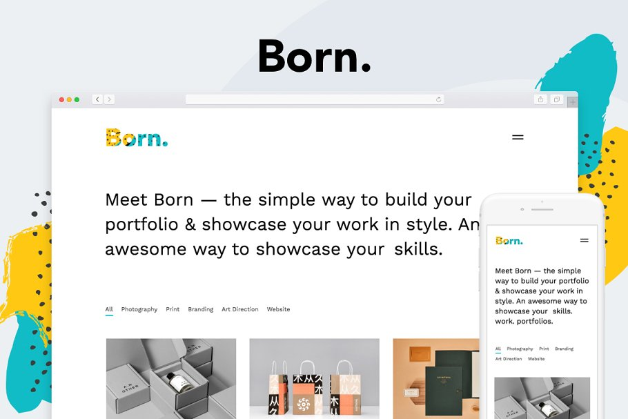 Born – Enjoyable Portfolio Tumblr