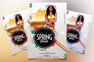 Spring Break - PSD Flyer Template
