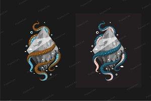 Scuba diving sport T-shirt design