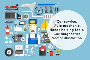Car service. Auto mechanic.