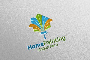 Home Painting Vector Logo Design 5