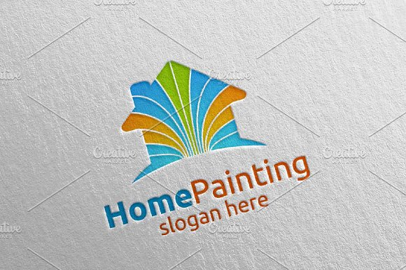 Home Painting Vector Logo Design 6