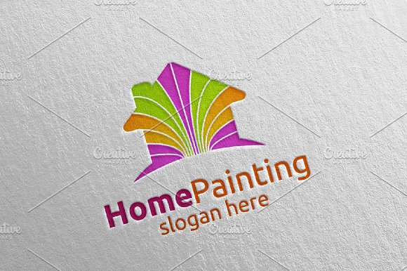Home Painting Vector Logo Design 6 in Logo Templates - product preview 2