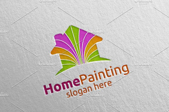 Home Painting Vector Logo Design 6 in Logo Templates - product preview 3
