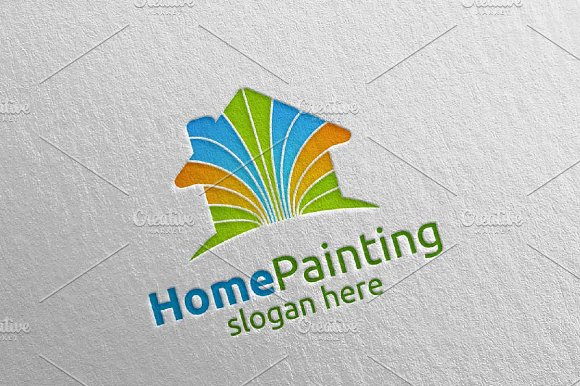 Home Painting Vector Logo Design 6 in Logo Templates - product preview 4