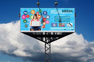 Social Media Billboard & Roll-Up