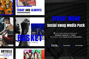 Street Wear - Social swag media pack