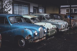 Old Abandoned Cars with Rust