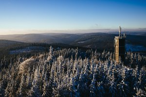 Watch Tower over Winter Forest