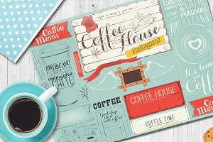 Coffee Menu Placemat EPS