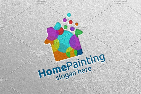 Home Painting Vector Logo Design 7