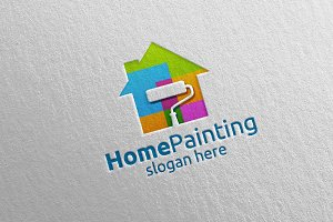 Home Painting Vector Logo Design 8