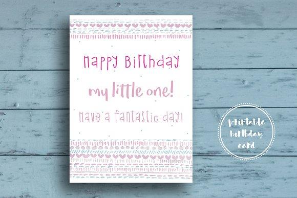 Cute Birthday Card For Girls