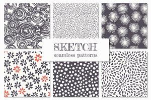 Sketch Seamless Patterns Set