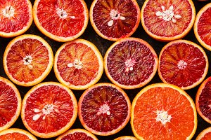 red Orange Citrus fruit pattern