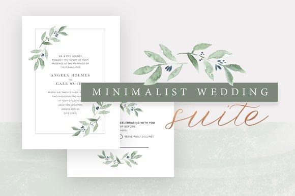 minimalist wedding invitation suite invitation templates
