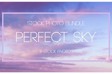 Evening sky Bundle 9 photos