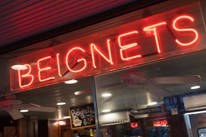 Beignets Neon Sign in New Orleans